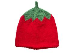Hand knitted hat   Womens Tomato Hat by thekittensmittensuk, £15.00