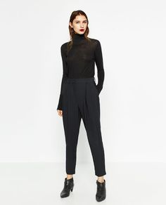 Image 1 of HIGH WAISTED CARROT TROUSERS from Zara