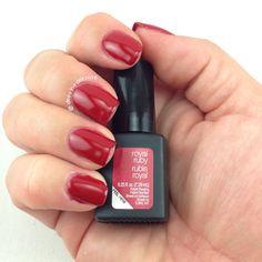 Sensationail gel's #royalruby - royal ruby