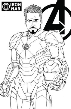 Superhero coloring pages - avengers endgame iron man tony stark coloring page avengers, cartoon, Coloring, iron man, marvel cartoon coloring pages Avengers Coloring Pages, Superhero Coloring Pages, Marvel Coloring, Cartoon Coloring Pages, Disney Coloring Pages, Coloring Pages To Print, Coloring Book Pages, Coloring Sheets, Iron Man Avengers
