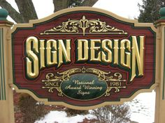 Old School Sandblasted Redwood by Sign Design for Sign Design! Call us today for a custom quote at 330-262-8838!