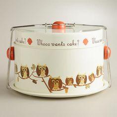 Owl Cake Carrier from World Market