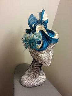 SILK ABACA HEADPIECE BY DEBORAH THOMPSON #millinery #hats #HatAcademy