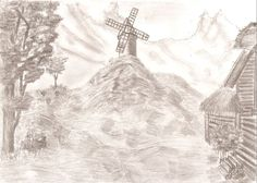 Village at the foot of the mountains by Ingrem48 on DeviantArt