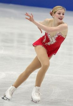 Gracie Gold of USA competes in the Women's Short Program during day two of the ISU Four Continents Figure Skating Championships at Osaka Municipal Central Gymnasium on February 2013 in Osaka, Japan. Ice Skating, Figure Skating, Gracie Gold, Skate 3, Pyeongchang 2018 Winter Olympics, Ice Dance, Ice Princess, Skating Dresses, Team Usa