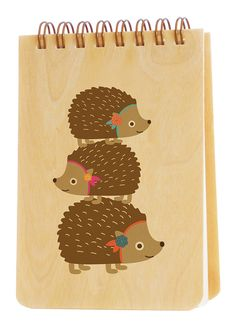 For when I need to jot it down...this adorable thing!  Stacked Hedgehogs * Jotter by Night Owl Paper Goods