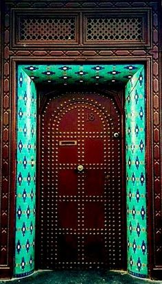 Unique door in Rabat, Morocco.