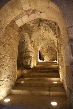 The Inside Of Ajloun Castle Canvas Print / Canvas Art by Taylor S. Beautiful Castles, Beautiful Places, Places Around The World, Around The Worlds, Caves, Jordan Travel, Templer, Famous Castles, Stairway To Heaven