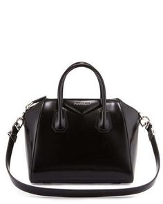 Antigona Small Leather Satchel Bag, Black by Givenchy at Neiman Marcus.