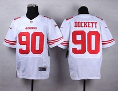 "$23.88 at ""MaryJersey""(maryjerseyelway@gmail.com) Nike 49ers 90 Darnell Dockett White Men Stitched NFL Elite Jersey"