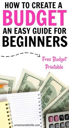 Are you looking to create your first budget? This budgeting for beginners guide will show you how you can take control of your finances and save money! Learn how to budget your money with this simple step-by-step guide. A FREE monthly budget worksheet printable included! How to budget for beginners, how to budget, money saving tips, budgeting tips, how to create a budget, how to save money