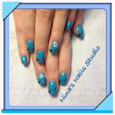 Cerulean blue CND in love with this colour ; Nail Studio, Cerulean, Cnd, Gel Nails, Colour, Blue, Nail Gel, Gel Nail, Color