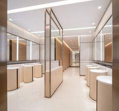Washroom Design, Toilet Design, Commercial Toilet, Atrium Design, Bathroom Toilets, Bathroom Stuff, Interior Architecture, Interior Design, Public Bathrooms