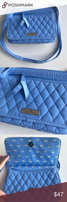 """NWT Vera Bradley Petite Crossbody 💙 New with tags, Vera Bradley Petite Crossbody in Sky Blue. Measures height of 6.5"""" / width of 8.5"""" / maximum depth 2"""" wide. Adjustable strap with magnetic closure. From a smoke free home. Vera Bradley Bags Crossbody Bags"""