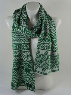 Schal Scarf Damen Herren grün Norwegerschal Accessoires Geschenk NEU M38