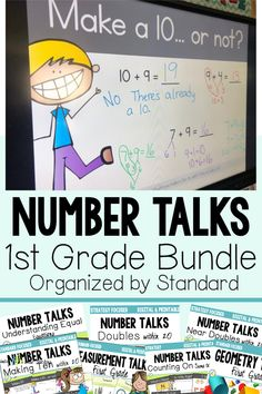 This bundle of DIGITAL first grade number talks makes it super easy to grab math talk activities that align with the Common Core standard you are teaching. They will help your students soar as mathematical thinkers! Grab your set today! First Grade Lessons, First Grade Activities, Teaching First Grade, First Grade Teachers, First Grade Classroom, 1st Grade Math, Teaching Math, Math Lessons, Future Classroom
