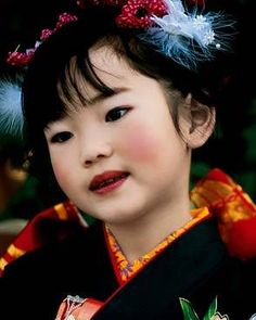 Adorable in a kimono