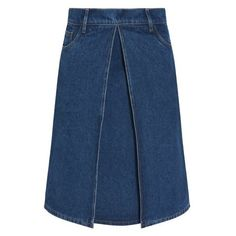 Balenciaga Denim Skirt (3,450 CNY) ❤ liked on Polyvore featuring skirts, blue, wrap around skirt, wrap skirts, balenciaga skirt, balenciaga and denim skirt