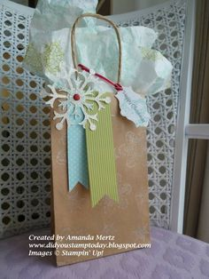 Snowflake Gift Bag by mandypandy - Cards and Paper Crafts at Splitcoaststampers