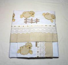Lençol de berço padrão americano - 3 peças <br> <br>Jogo de lençol…