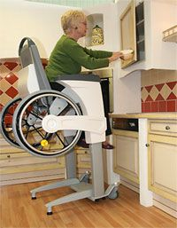 Elevating wheelchair by Nicolas Bonhommeau at Coro Recycled Furniture, Handmade Furniture, Cool New Inventions, Ada Bathroom, Wheelchair Accessories, Powered Wheelchair, Adaptive Equipment, Mobility Aids, Assistive Technology