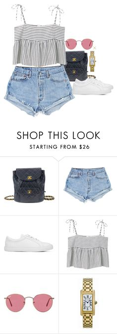 """""""Dy two drive"""" by juliaparmartin ❤ liked on Polyvore featuring Chanel, MANGO, Ray-Ban, Cartier and Eva Fehren"""