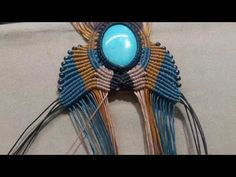 Hand made necklace with colored stones Macrame - YouTube