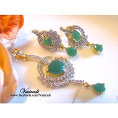 PS176 Green Pendant Sets by Vastradi - Online Shopping for Pendants by Vastradi