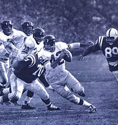 Charley Conerly, #42, New York Giants (abt 1956)