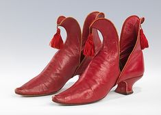 RED slippers, c. 1892. Brooklyn Museum Costume Collection at The Metropolitan Museum of Art