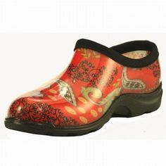 Sloggers Women's Print Garden Shoes Red Paisley
