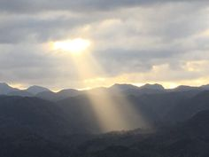 view of Sun beam from the space of clouds in front of sasayuri-ann villa.