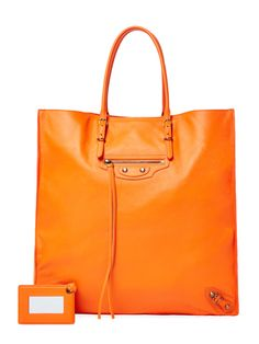 Papier Ledger Calfskin Leather Large Tote from Crave-Worthy Color: Luxe Accessories on Gilt