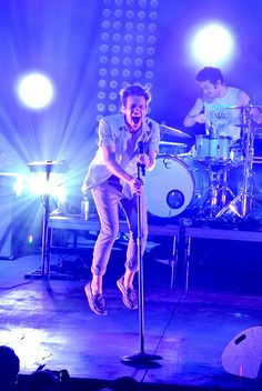 Really great photo of Nate Ruess, at a Fun. concert in San Diego <3  Photo by #HayleyHall