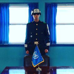 Soldado sul-coreano preparado na fronteira em posição de #taekowndo #dmz #northkorea #southkorea