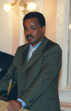 is the first President of Eritrea,Assumed office 27 April born in Asmara, Eritrea, and attended Haile Selassie I University until he dropped out to join the Eritrean Liberation Front (ELF). African Dictators, Front Populaire, Education In Africa, Religion, Haile Selassie, Horn Of Africa, Eritrean, Head Of State, World Leaders