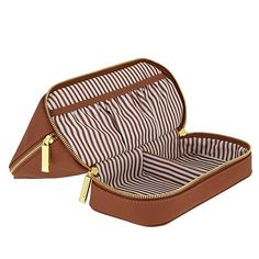7bed46e3d37 JOY Smart   Chic Genuine Leather Travel Case with Secret Section - 8384937    HSN