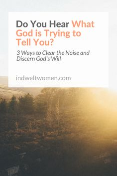 Do You Hear What God is Trying to Tell You? 3 Ways to Clear the Noise and Discern His Will — Indwelt Women Amazon Christmas Gifts, Love Others, Faith Quotes, Gods Love, To Tell, Scream, Bible Verses, Told You So, Lord