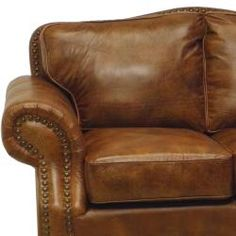 Brandon Distressed Whiskey Italian Leather Sofa And Loveseat
