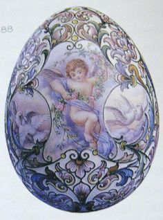 Russian Imperial Faberge Eggs | Less grand versions of the Imperial Easter eggs, where this one uses ...