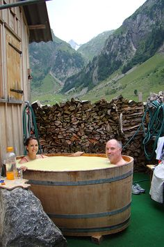 Bathe In Whey In The Swiss Alps In Appenzell, Switzerland, you can hike up to a remote dairy farm above the emerald waters of the Seealpsee Lake where dairyman Hans Gmünder and his family live in a small cabin above a cheese-cellaring cave. Oh The Places You'll Go, Places To Travel, Places To Visit, Vacation Destinations, Dream Vacations, Dream Trips, Mountain Vacations, Last Minute Vacation, Ansel Adams