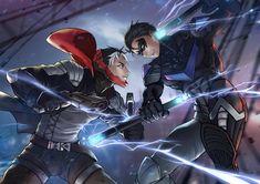 Red Hood VS Nightwing 4k superheroes wallpapers, red hood wallpapers, nightwing wallpapers, hd-wallpapers, digital art wallpapers, deviantart wallpapers, artwork wallpapers