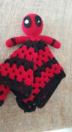 Crochet Deadpool Lovey/Security Blanket by DaisyMaesBoutique331 on Etsy