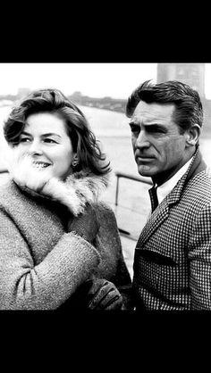 Ingrid Bergman, Cary Grant, London, 1958.