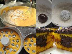 Bolo de Cenoura,a massa do bolo já sai do forno recheada com brigadeiro. Isso mesmo! É bem simples de fazer. Veja: - Receitas e Dicas Rápida...