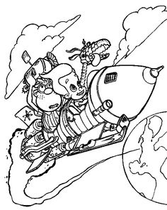 jimmy neutron rides on scooter coloring pages jimmy neutron