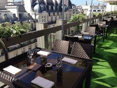 La Terrasse du W le restaurant de l'Hôtel Warwick Champs-Elysees à #Paris !  A visiter absolument!!! #France #terrace terrace
