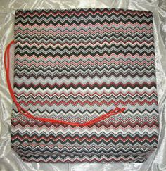 Chevron / NEW / Flat Bottom / Cord Tie / Fabric Gift Bags by olebaglady for $5.00