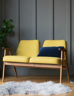 Another mid century classic, an occasional chair. Jozef Chierowski 366 Two Seater Wool - four colours available 3