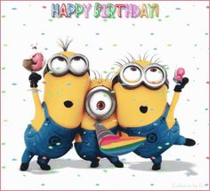 The perfect HappyBirthday Party Minions Animated GIF for your conversation. Happy Birthday Minions Gif, Minion Birthday Quotes, Birthday Wishes Gif, Happy Birthday Video, Birthday Wishes And Images, Happy Birthday Signs, Happy Birthday Pictures, Birthday Songs, Happy Birthday Parties